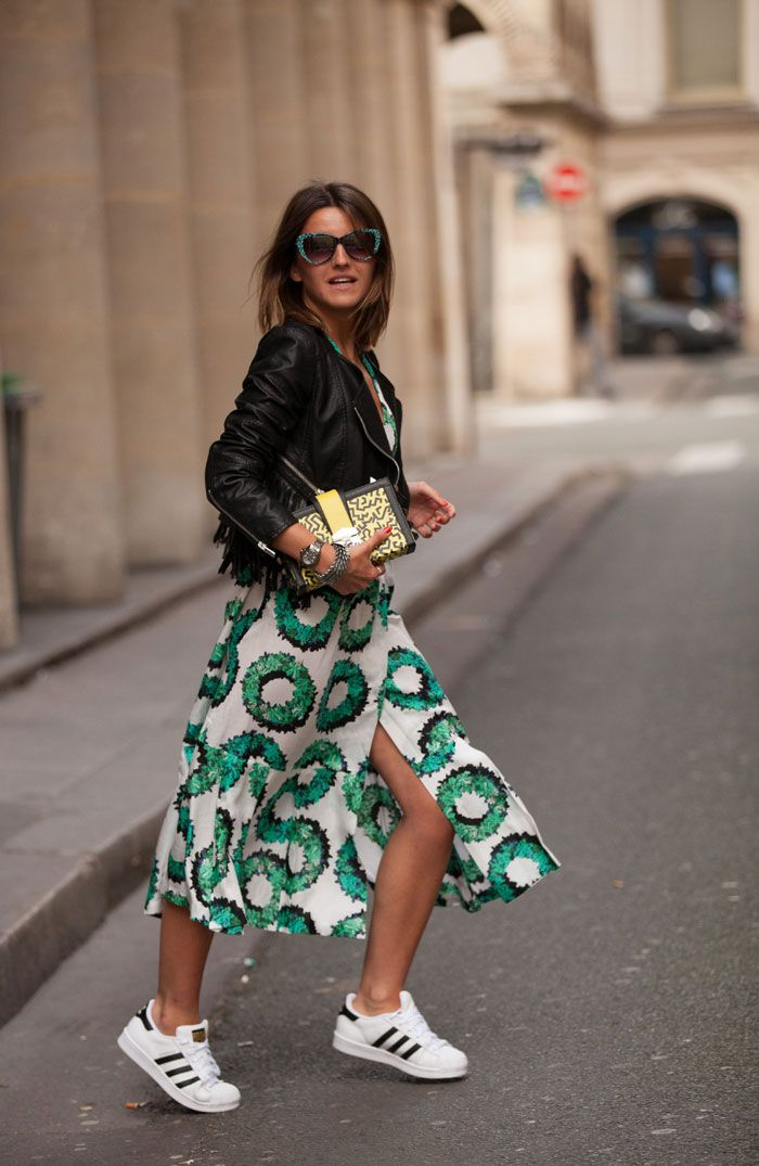 10 Ways To Wear Sneakers With A Dress
