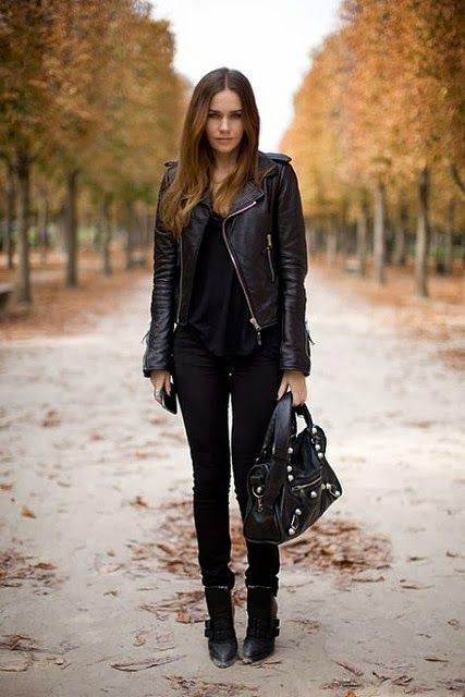 21 Ways to Wear a Leather Jacket This Fall 2017 | Become Chic