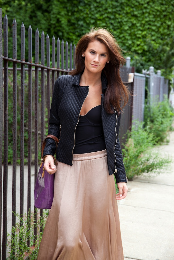 Maxi skirt and jacket | Global trend skirt blog