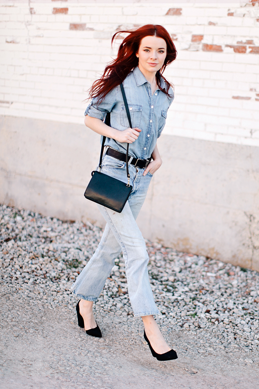 e480b893706 15 Chambray Shirts To Wear Like A Street Style Star 2019   Become Chic