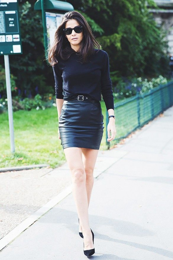 10 Ways To Wear a Leather Skirt 2017 | Become Chic
