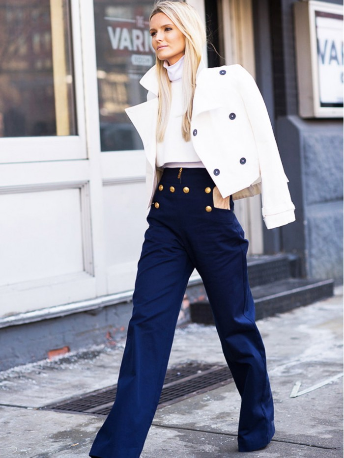 Nautical Street Style Sailor Pants For Women 2018 | Become Chic