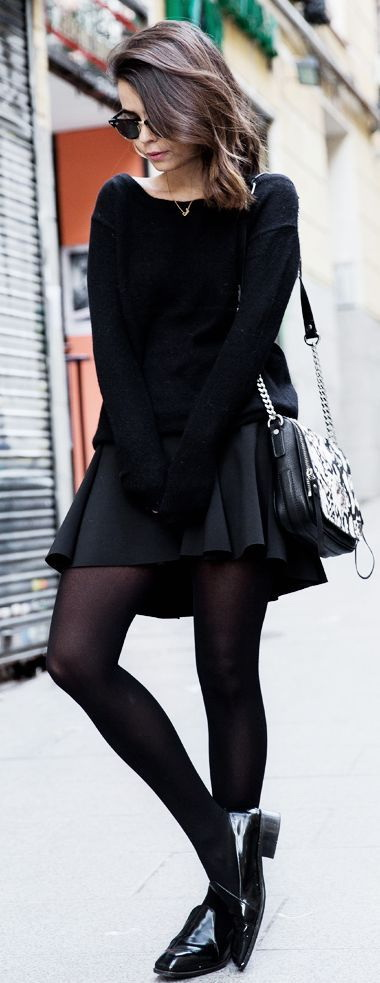 Pencil skirt, thigh high boots