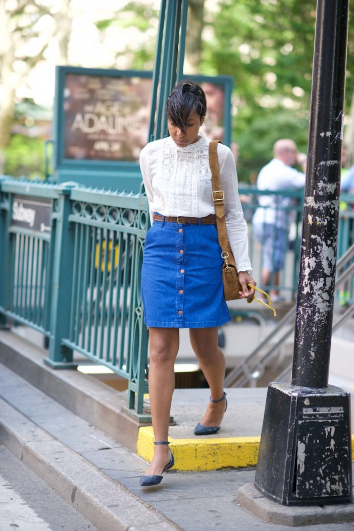 How To Wear: A Line Button-Front Skirts 2019