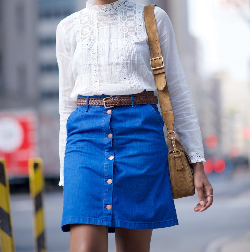 What To Wear With An A Line Denim Skirt - Dress Ala