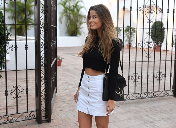 What to wear with a white denim skirt – Modern skirts blog for you