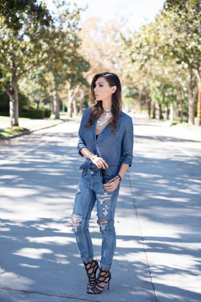 20 Ways To Wear Denim on Denim Trend