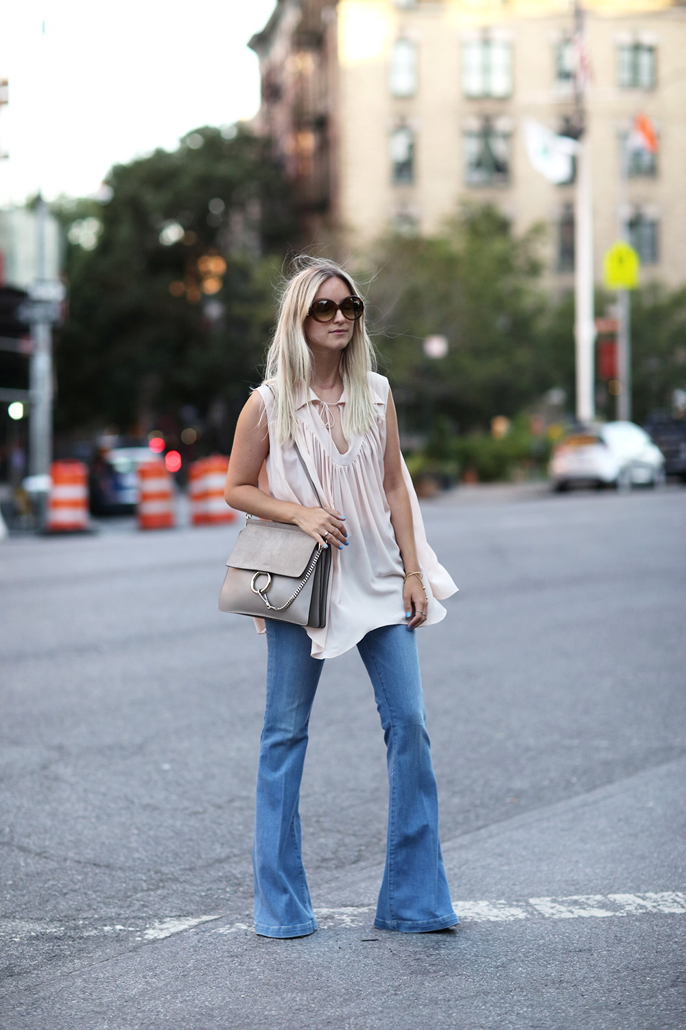 854035fcf9 Non-Boring 22 Ways To Wear Flare Jeans 2019