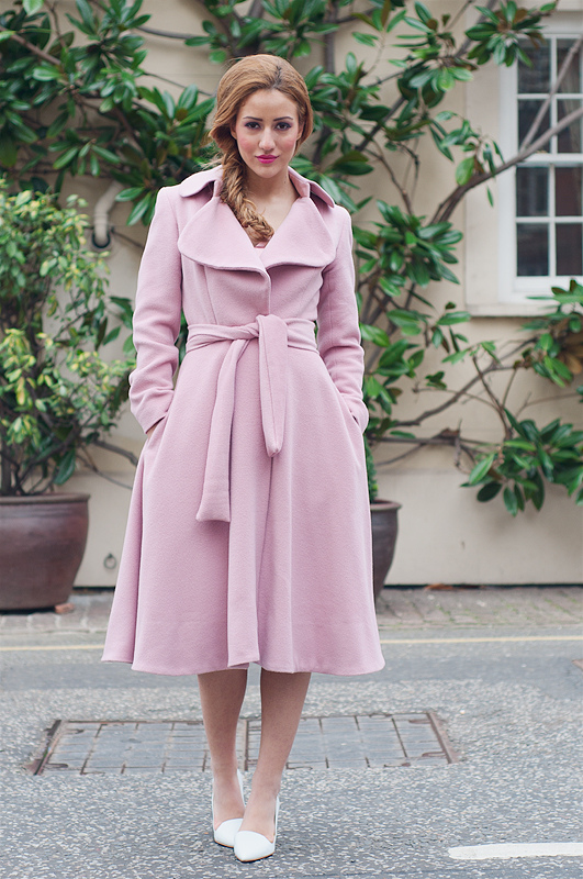 Street Style: Oversized Pink Coats For Women