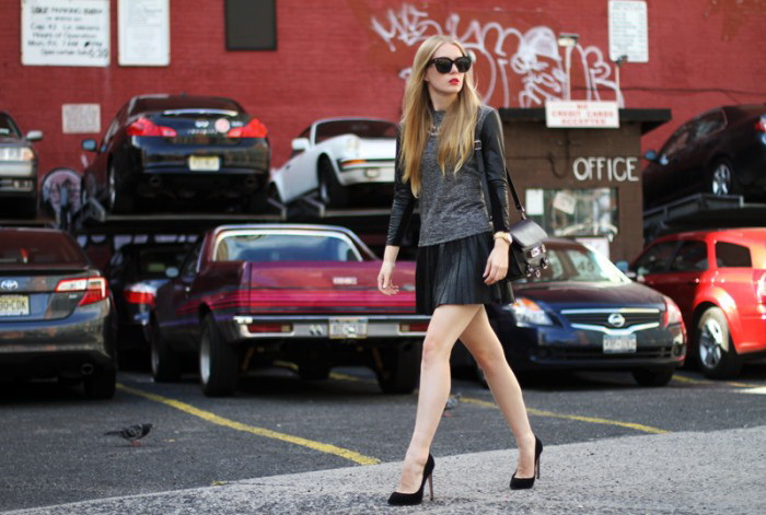 Shop This Year Trend: Pleated Leather Skirts