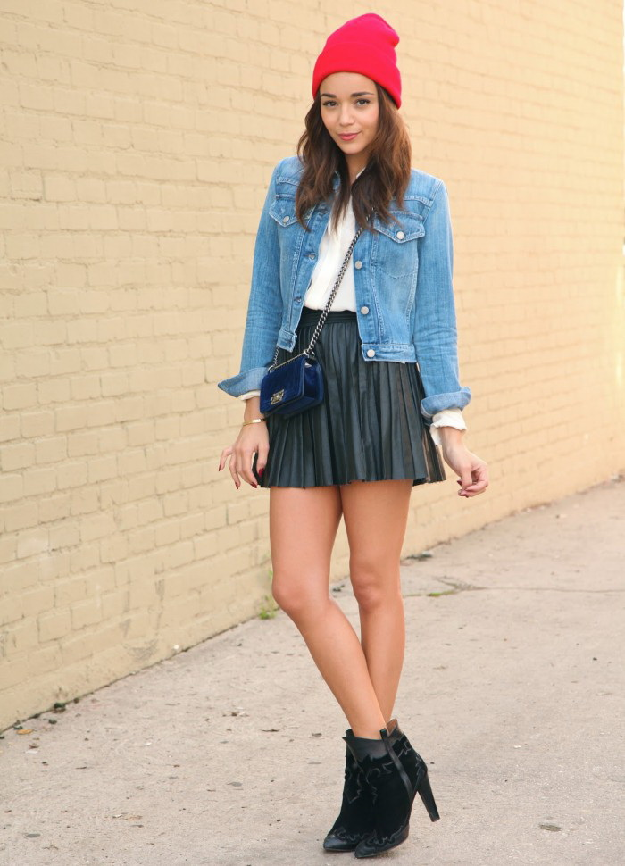 Shop This Year Trend: Pleated Leather Skirts 2021