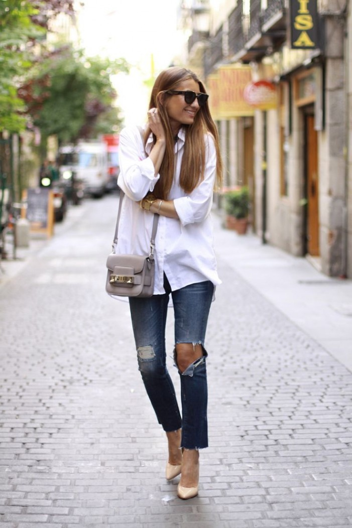 20 Ways To Wear A White Button Down Shirt