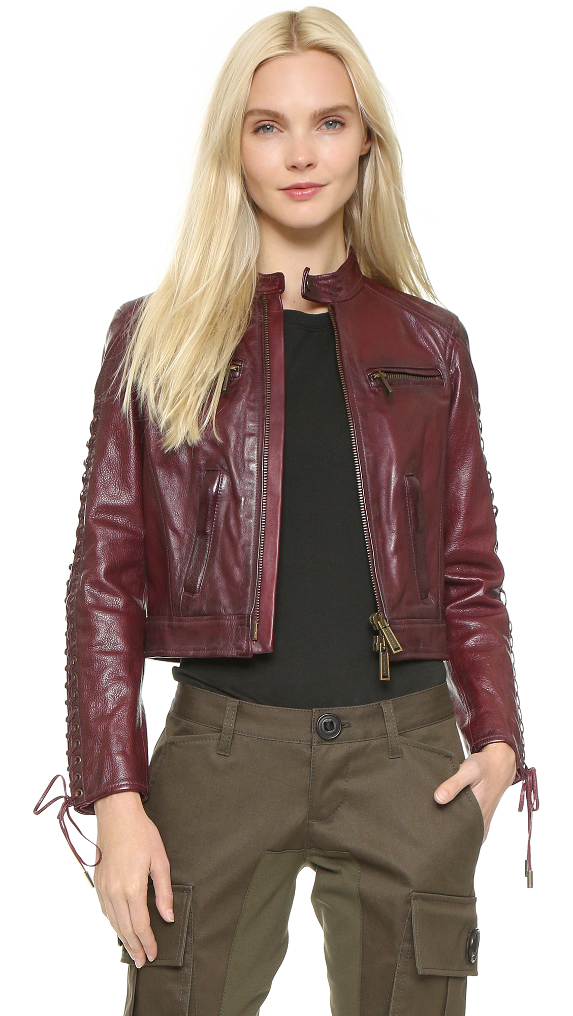 Chic leather jackets