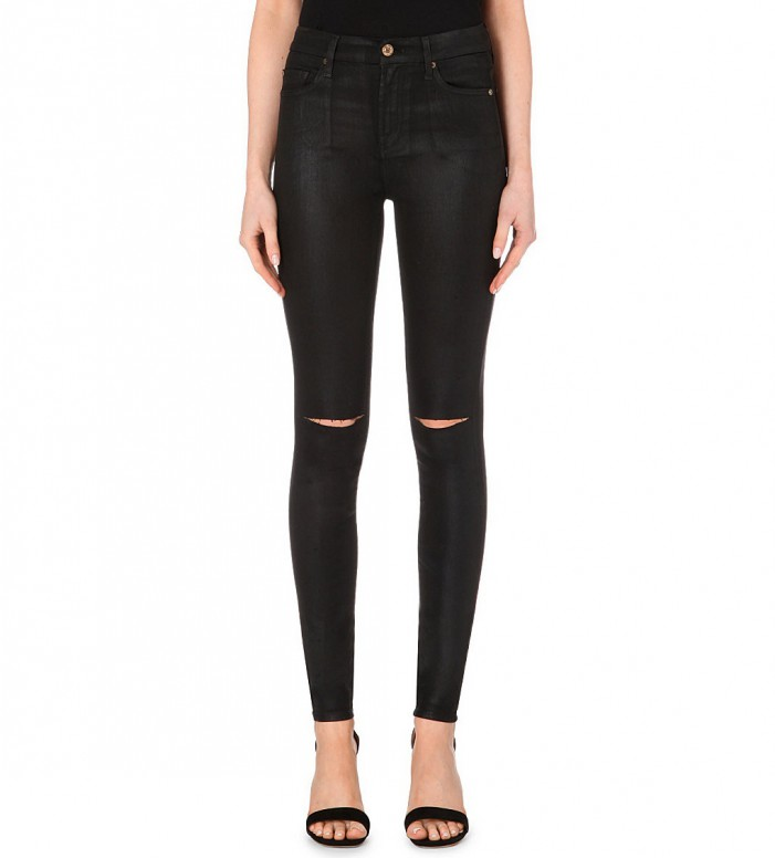 High-Waisted Black Jeans Street Style 2020