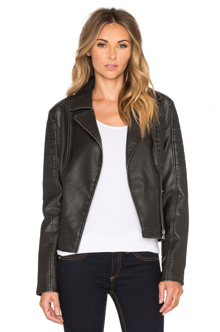 Women's Faux-Leather Jackets For Spring 2020