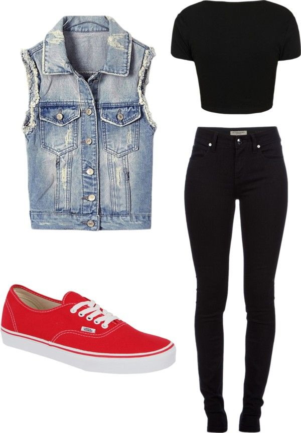 Polyvore Fashion Casual Denim Outfits For Women 2018 | Become Chic