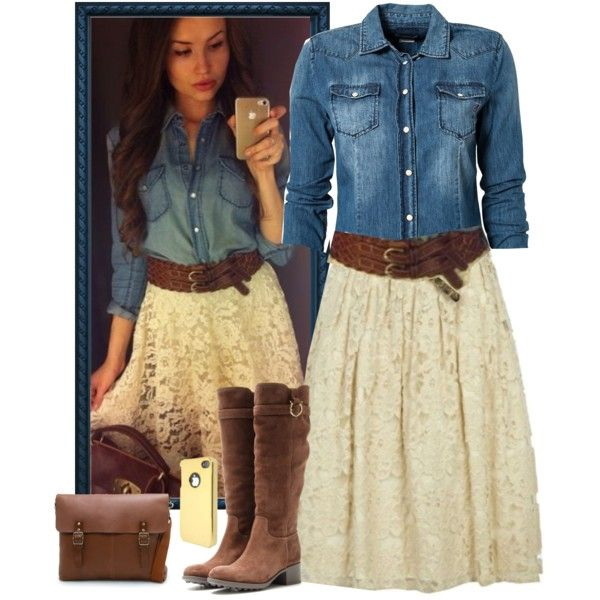 polyvore fashion casual denim for 2018