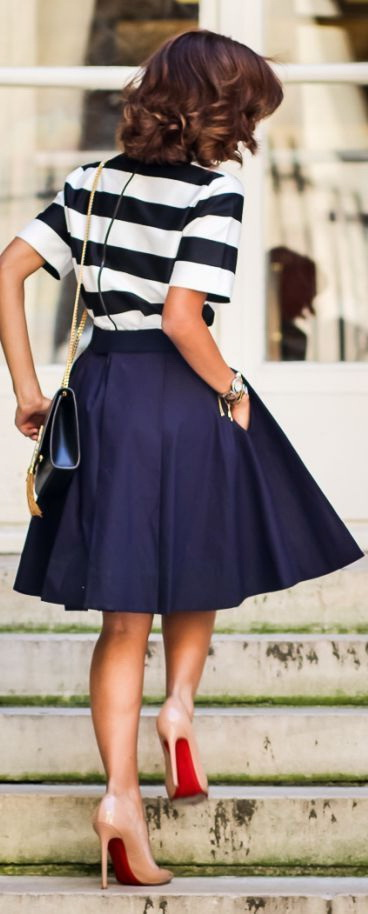 How To Wear Full Skirts In Summer