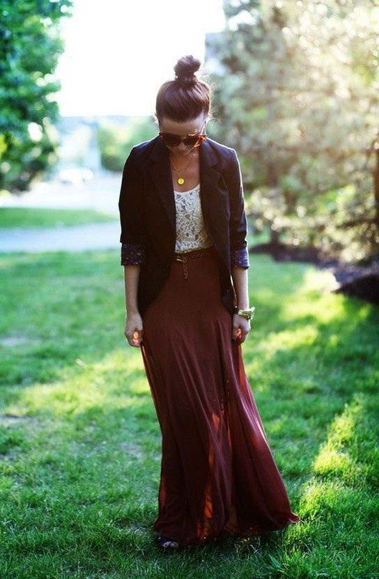 How To Make Maxi Skirts Look Great On You