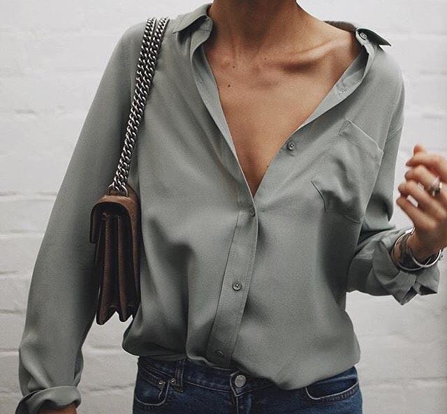 Silken Cream Grey Shirt For Summer Street Walks 2019