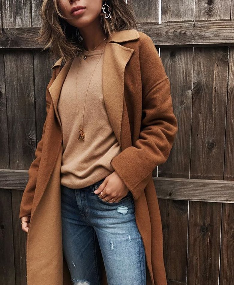 Oversized Camel Coats Are In Style This Fall 2019
