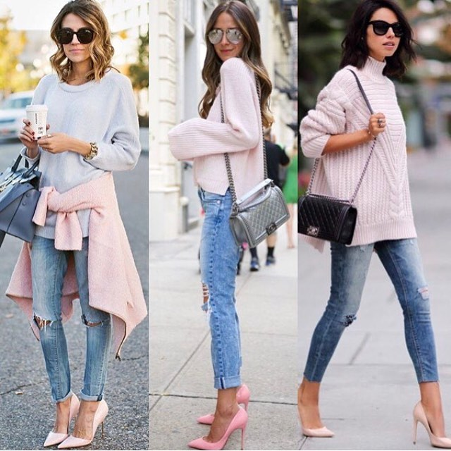How To Wear Pink Sweater This Spring 2019