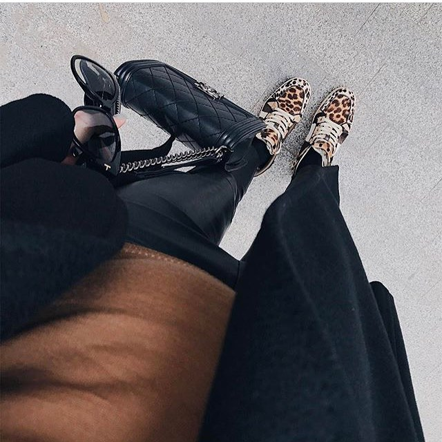How To Wear Leopard Print Sneakers With Leather Pants 2021
