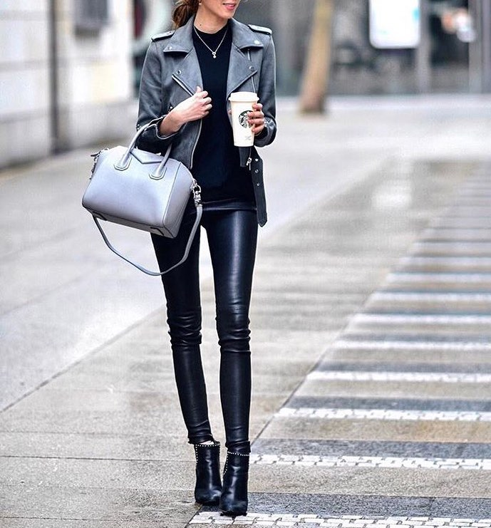 All Black Biker Chic Outfit Idea For Fall 2020