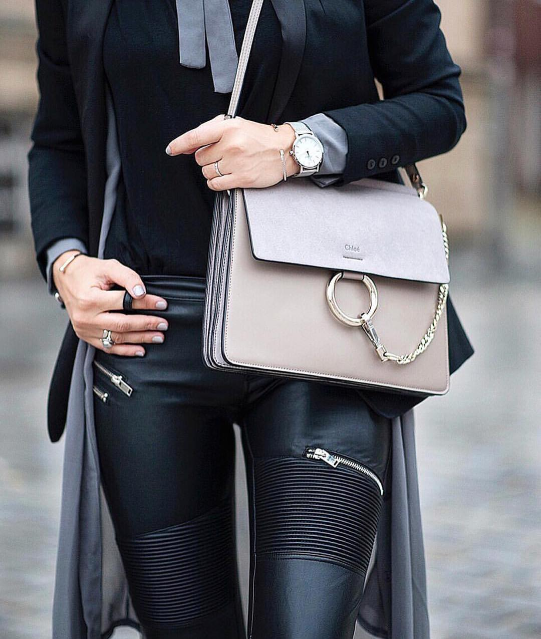 How To Wear Black Leather Biker Pants With Zip-Closures 2020