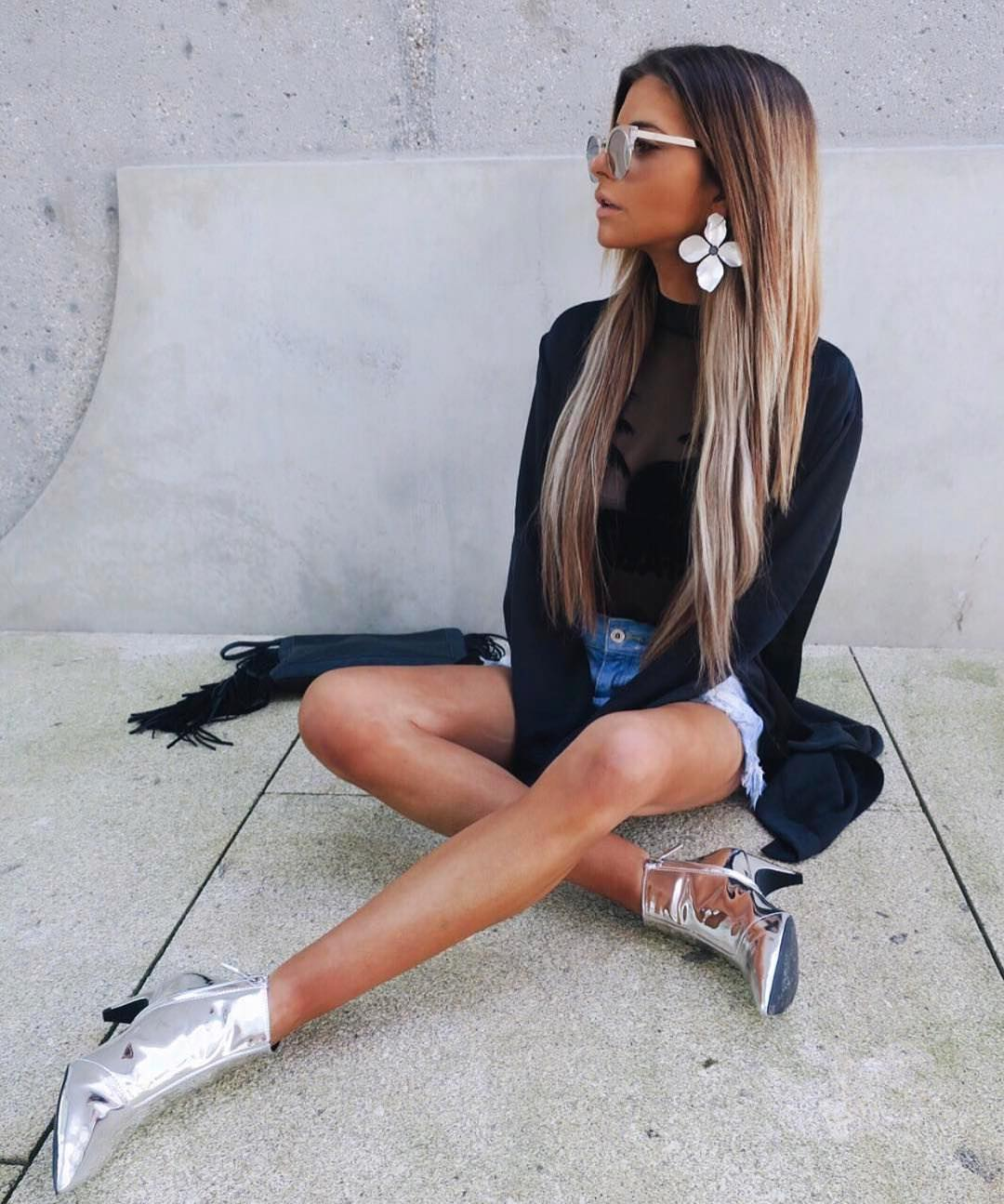 How To Style Metallic Silver Booties This Spring 2021