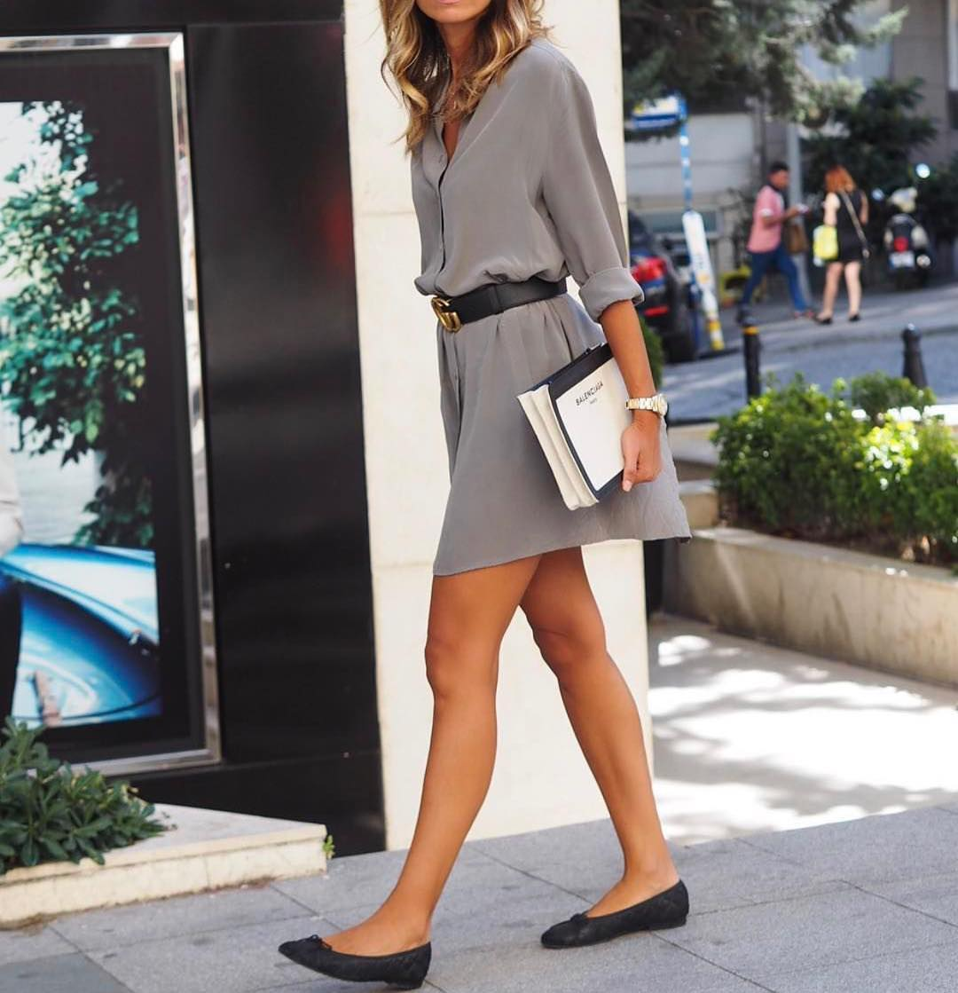 How To Wear Silk Cream Grey ShirtDress This Summer 2020