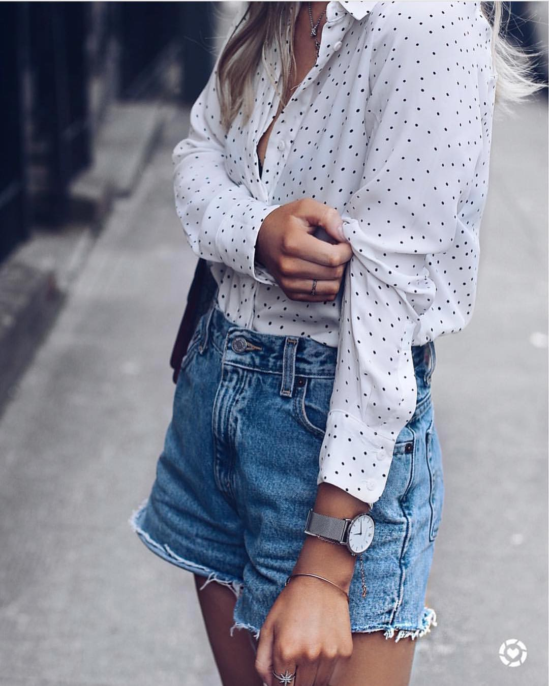 How To Wear White Shirt In Black Dots This Summer 2021