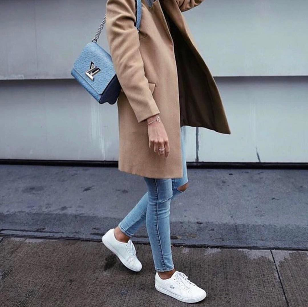 How To Wear Tailored Camel Coat With Ripped Jeans 2019