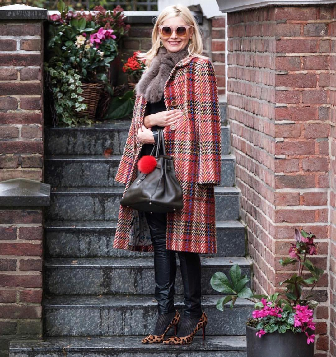 Perfect Fall Look For Weekends: Plaid Coat And Leopard Pumps 2021