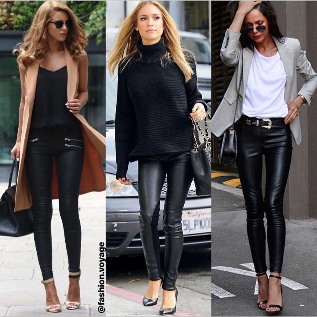 How To Wear Black Leather Pants This Fall 2021