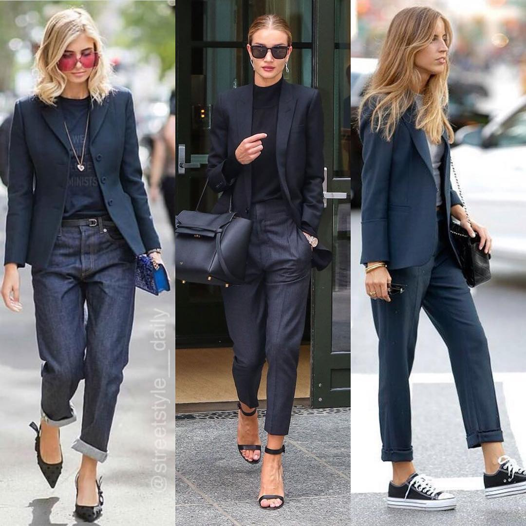 How To Style Navy Blazer This Spring 2021