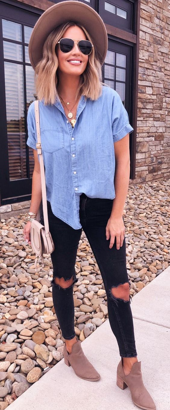 Best Denim Outfit Ideas For Women 2019